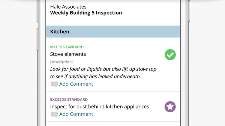 Cleaning Inspections