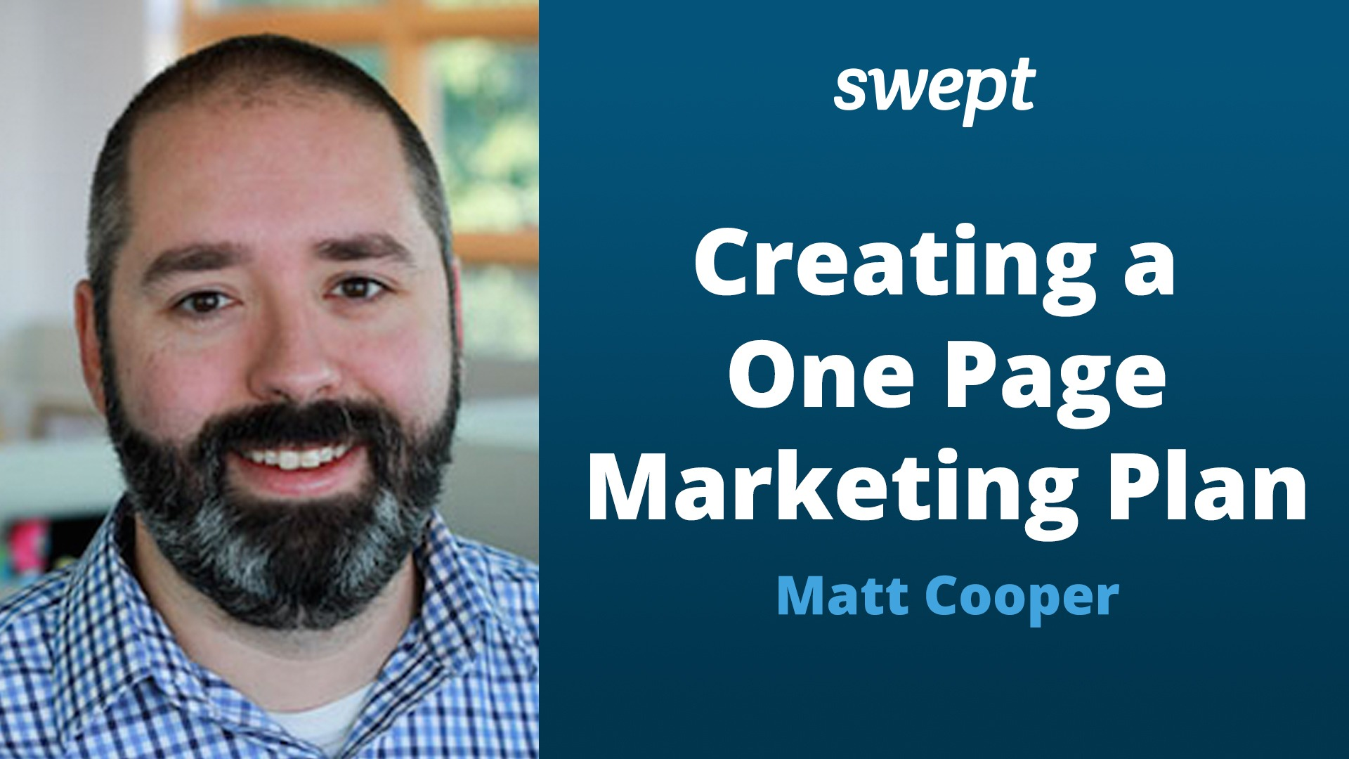 Watch Now: Creating A One Page Marketing Plan